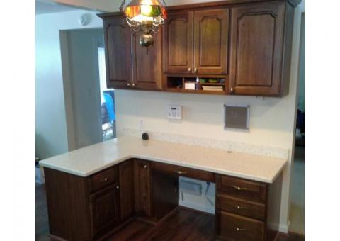 Desk and matching cabinets